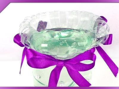 DIY Wazon z butelki. Plastic bottle flower vase (+ENG Subtitles) - Na szybko #121