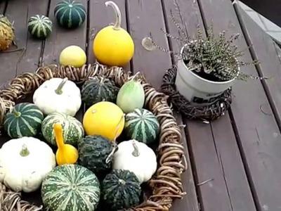 DIY .dekoracje jesienne w ogrodzie . Wianki