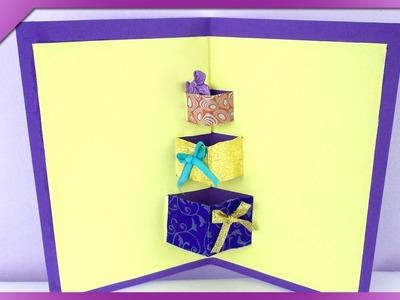 DIY Kartka 3D, prezenty. 3D card, presents (+ENG Subtitles) - Na szybko #110