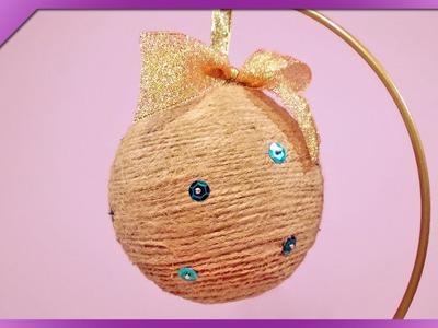 DIY Bombka ze sznurka. Twine Christmas balls (+ENG Annotations) - Na szybko #45