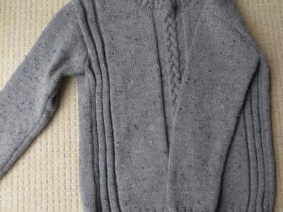 Sweter męski na drutach part 4 rekaw