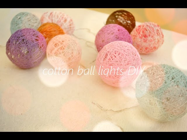 Cotton ball lights DIY