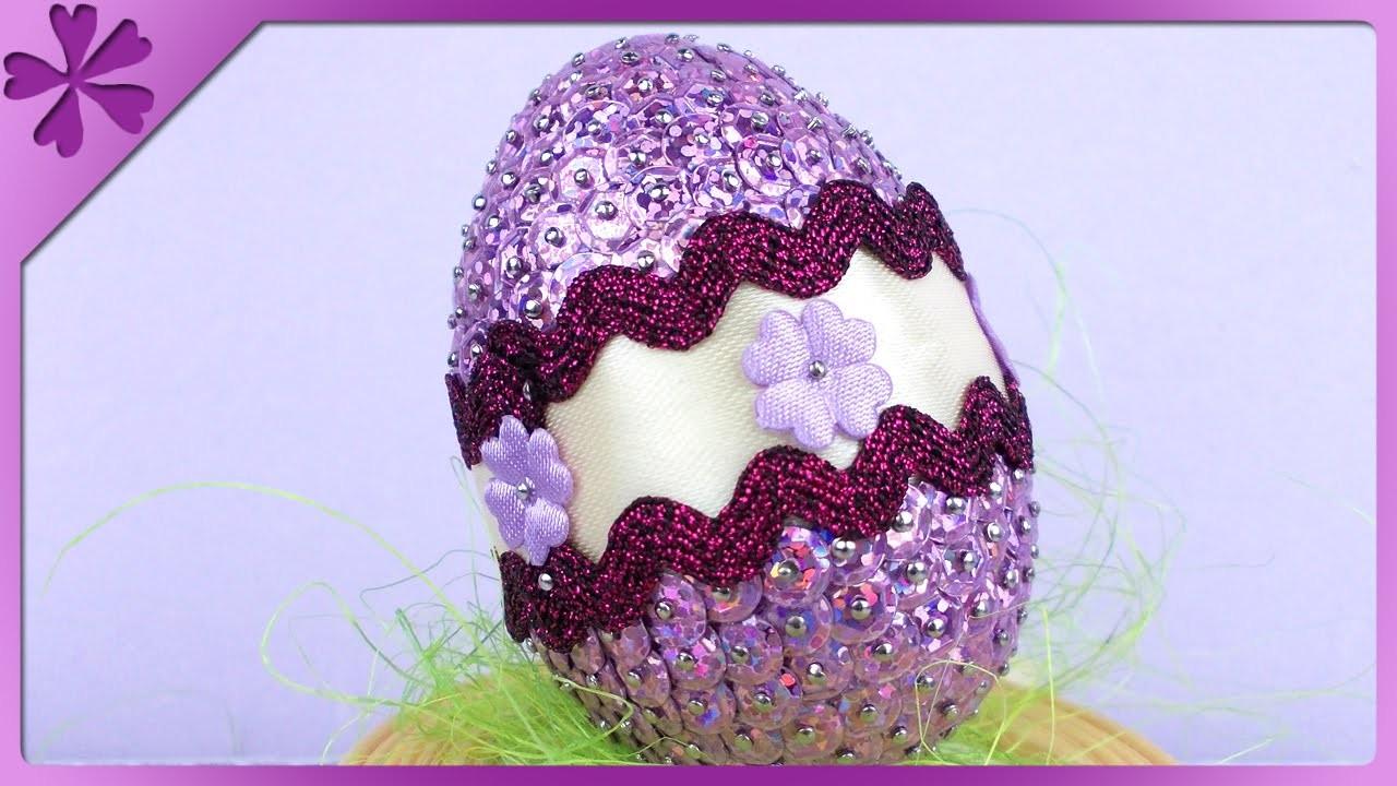 DIY Pisanki z cekinów. Sequin Easter Eggs (+ENG Annotations) - Na szybko #71