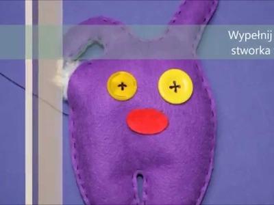 Jak zrobić zabawkę z filcu Potworka? DIY toy.