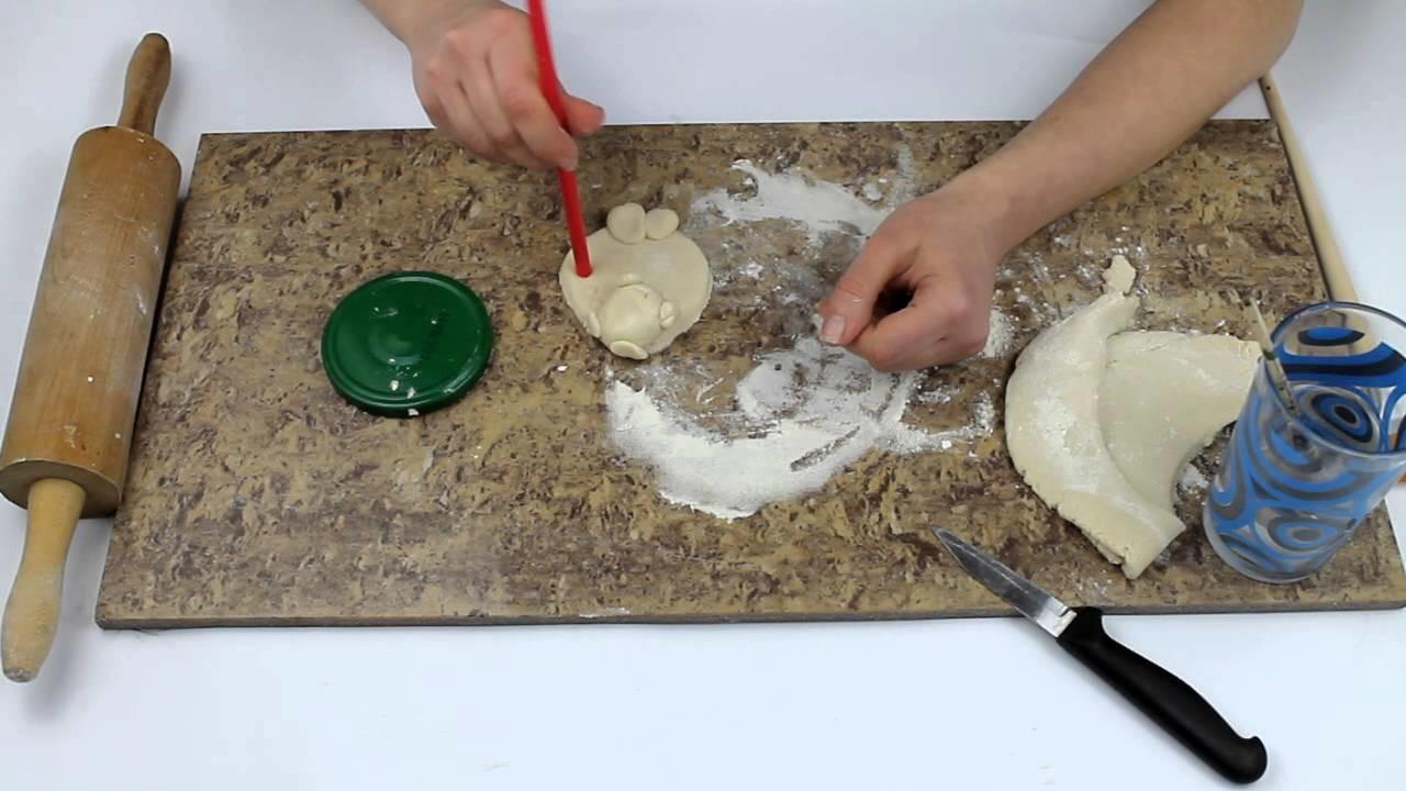 DIY owieczka z masy solnej