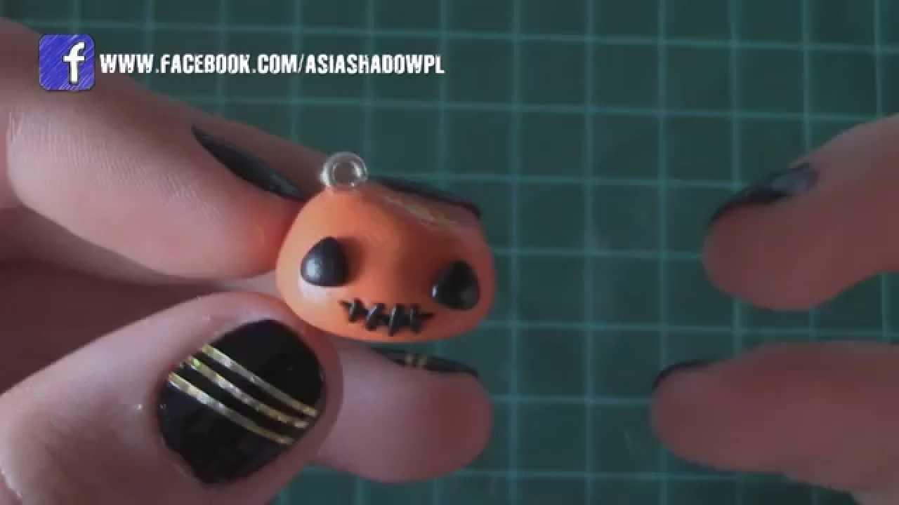 Halloween Cakepop Pumpkin Polymer Clay Tutorial