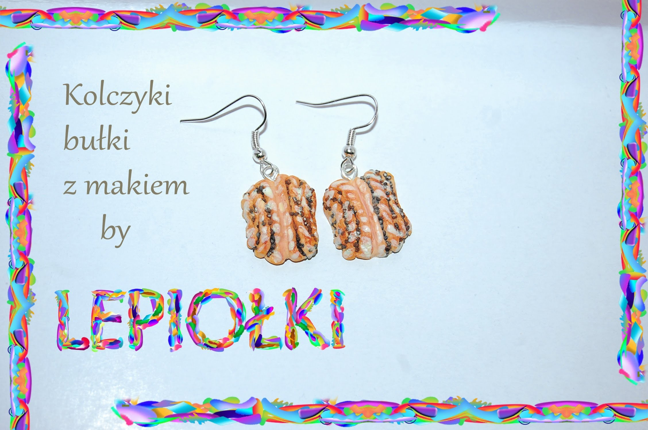 Lepiołki: Bułki z makiem TUTORIAL, Rolls with poppy seeds, polymer clay, made hand  Miniature Food