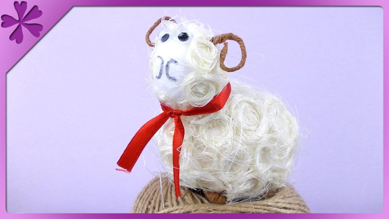 DIY Baranek z sizalu. Sisal Easter lamb (+ENG Annotations) - Na szybko #75