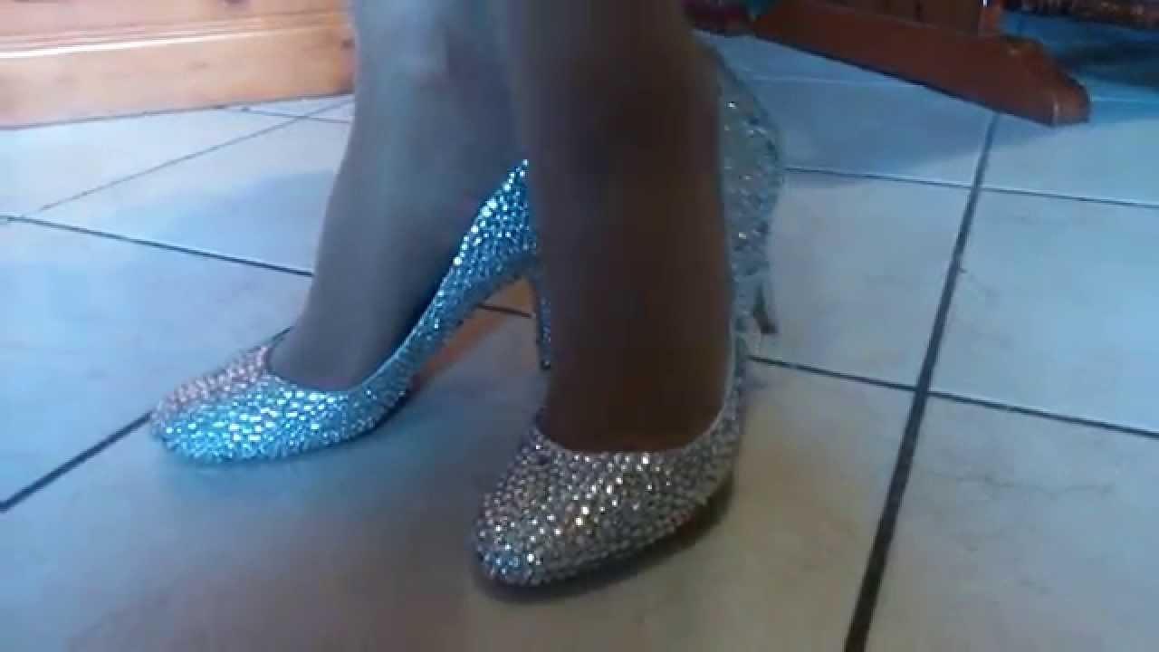 Handmade DIY wedding crystal shoes slubne szpilki cyrkonie
