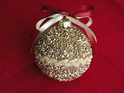 Jak zrobić bombkę z kaszy.  Christmas ball DIY