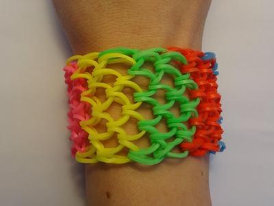 Bransoletka z gumek Loom Bands. Dragon Scale - smocza łuska. Rainbow Loom. Bracelet