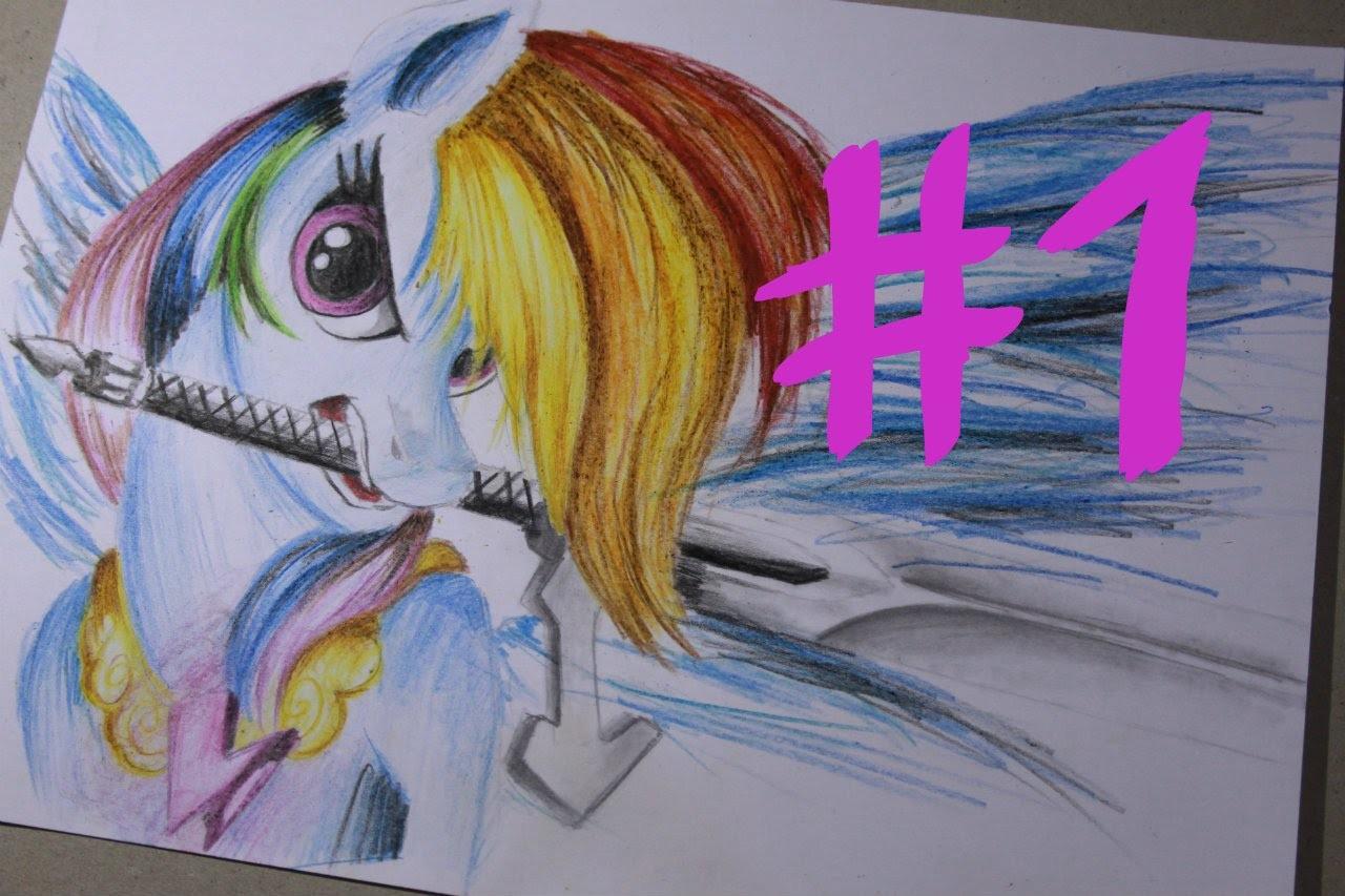 """Jak cieniować kredkami """" My Little Pony """" Rainbow Dash #1 - How to draw My Little Pony"""