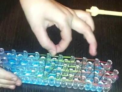 Jak zrobić potrójną bransoletkę?How to make a rainbow loom bracelet ? lekcja 1. lesson 1