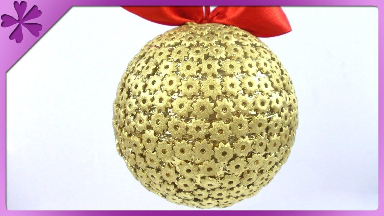 DIY Bombka z makaronu. Pasta Christmas ball (+ENG Subtitles) - Na szybko #153