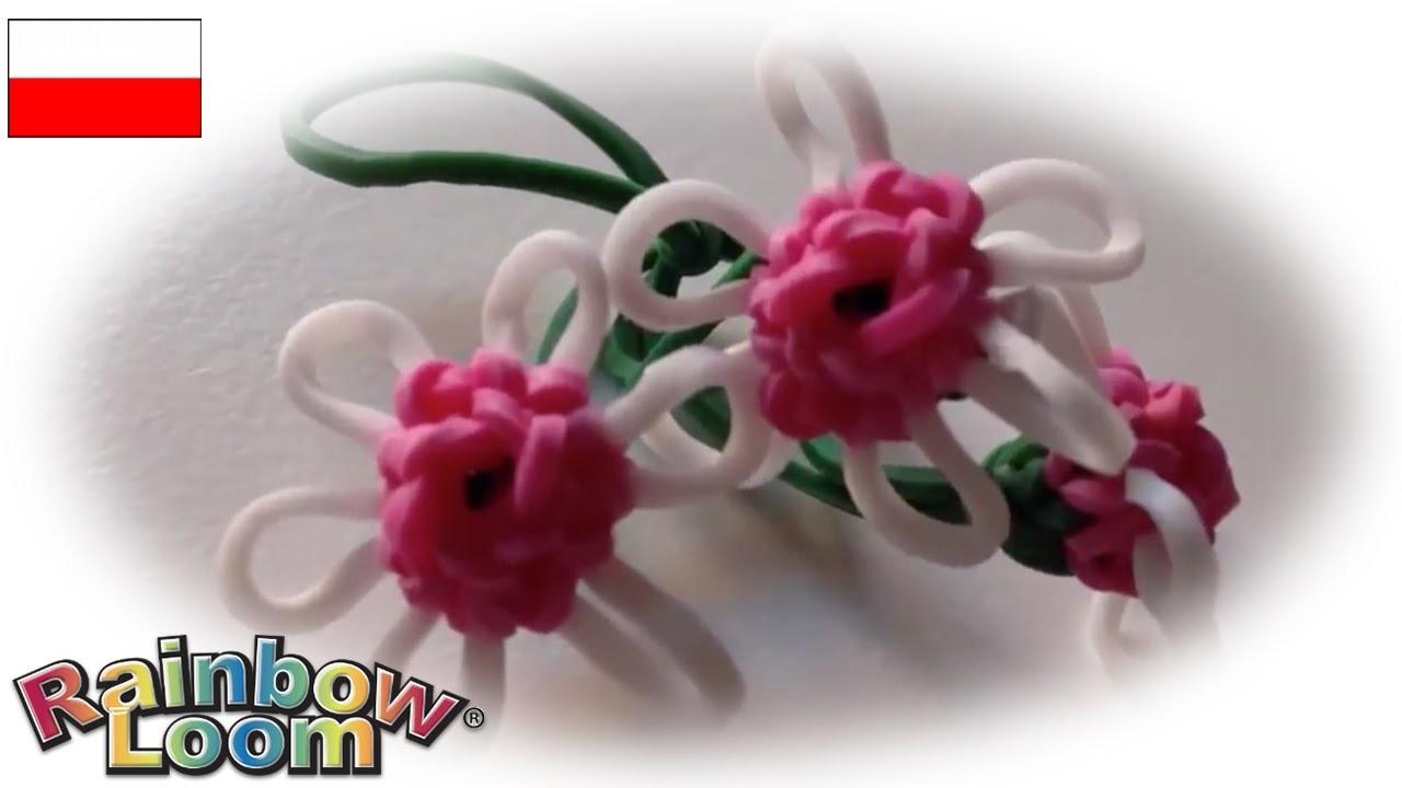 """Rainbow Loom MonsterTail """"Mini kwiatek"""""""