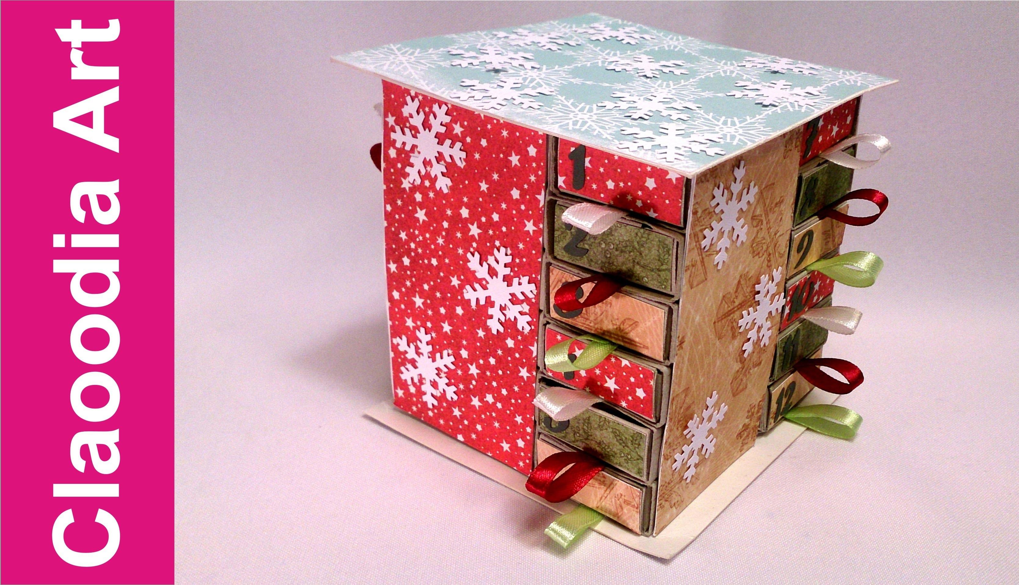 Kalendarz Adwentowy z pudełek po zapałkach (advent calendar DIY)
