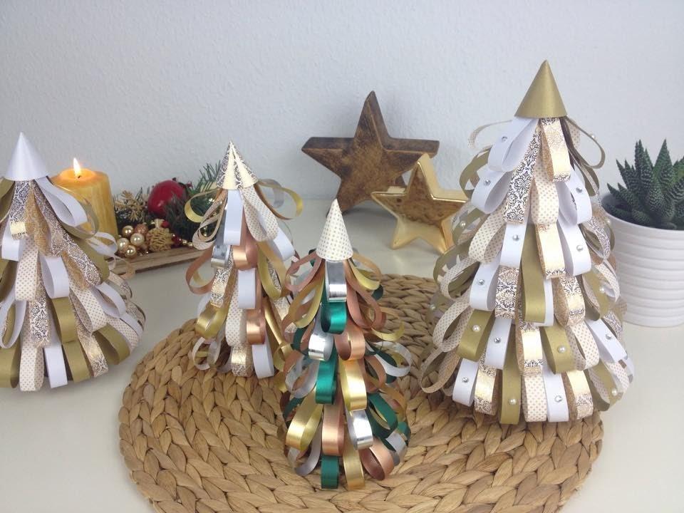 Świąteczne DIY - choinka z kolorowego papieru i wstążek