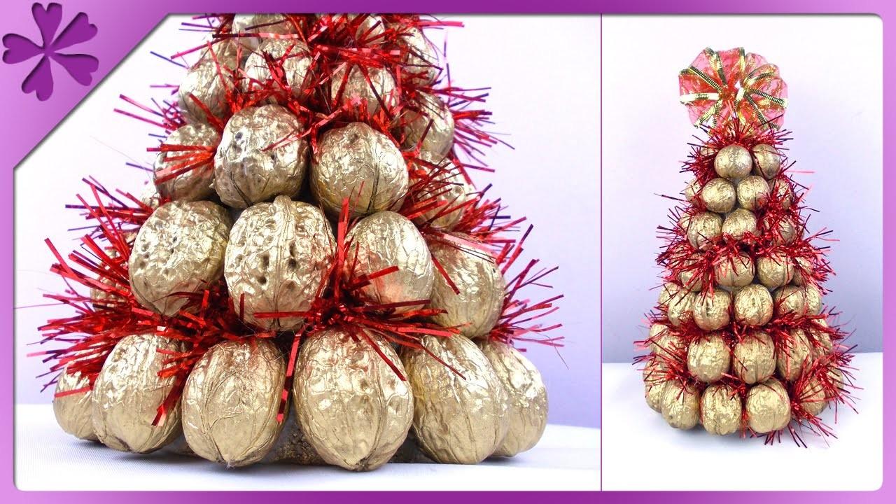DIY Choinka z orzechów. Walnut Christmas tree (+ENG Subtitles) - Na szybko #156