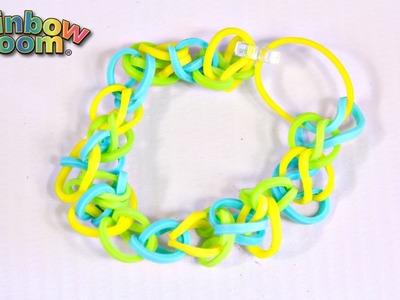 Finger Loom - Bransoletka - własne krosno & szydełko - Kolorowe gumeczki na rękę - Rainbow Loom