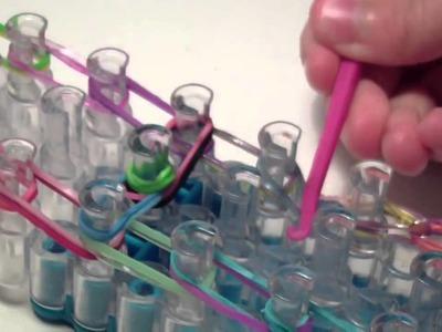 Instrukcja po polsku jak zrobić literkę A z gumek Rainbow Loom