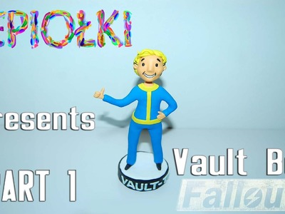 TUTORIAL: Vault boy ( Fallout) by  lepiołki  PART 1 polymer clay, z modeliny, made hand