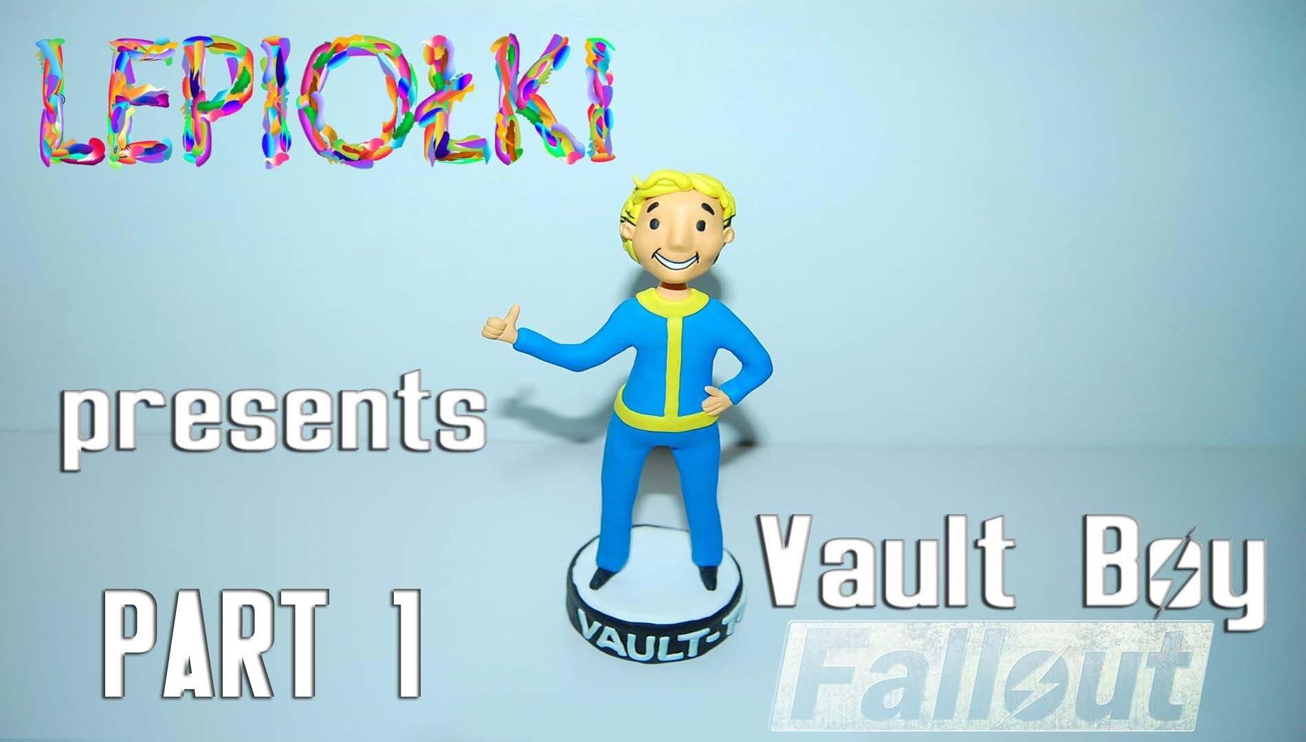 TUTORIAL: Vault boy ( Fallout) by  lepiołki  PART 1 polymer clay, z modeliny, made hand