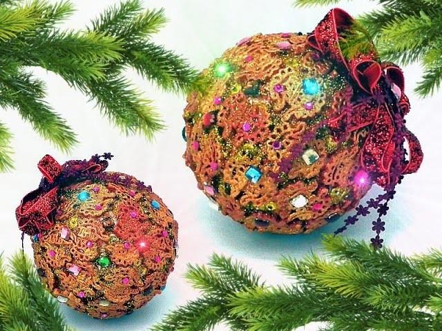 Bombka z makaronu  Christmas ornament DIY