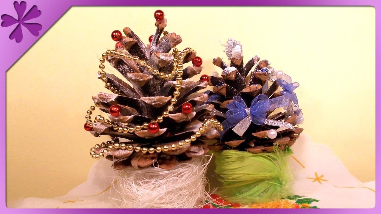 DIY Choinka z szyszki. Pine cone Christmas tree (+ENG Annotations) - Na szybko #30