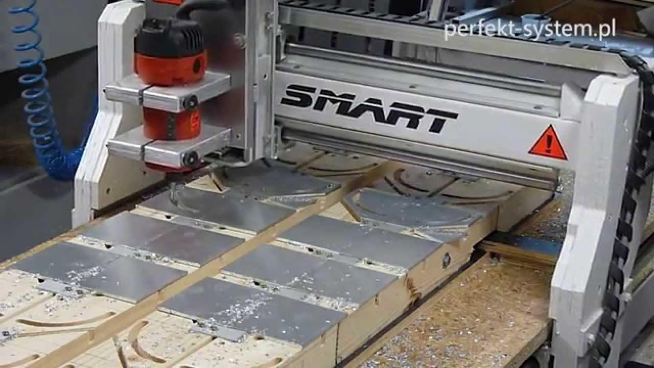 """DIY Frezarka CNC """"Smart"""" - praca w aluminium"""