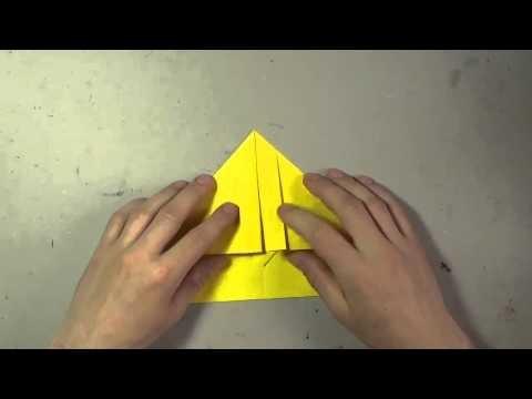 Jak zrobić papierowy samolot - origami #3. How to make a paper airplane #3