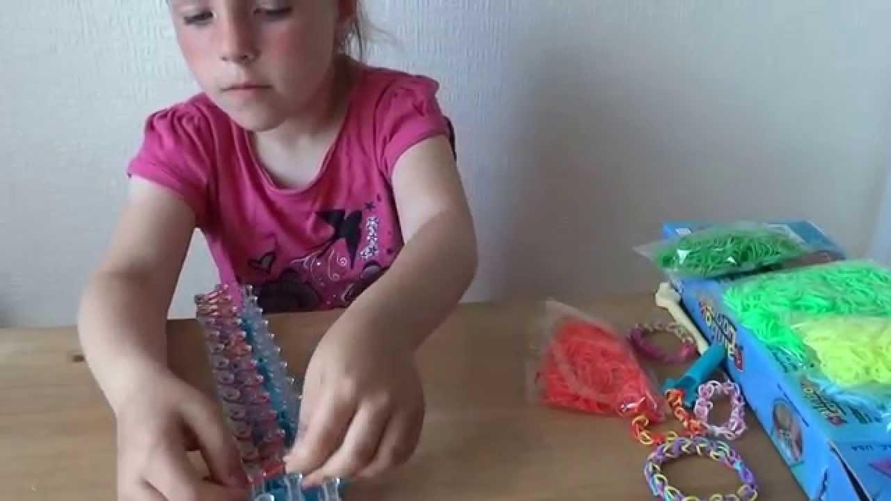 Rainbow loom -bransoletka z gumek lekcja 1