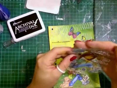 "Strona do art journal'a, DIY, tutorial, ""letnie wspomnienia""."