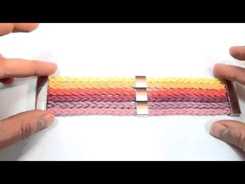 Bransoletka i naszyjnik z kolorowych rzemieni - kurs biżuterii DIY