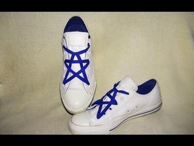 Jak w oryginalny sposób zasznurować buty - pentagram