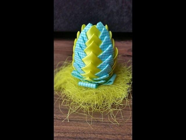 Jak zrobić styropianowe jajka ze wstążki  (ozdoby wielkanocne). Ribbon Easter Eggs (turtorial)