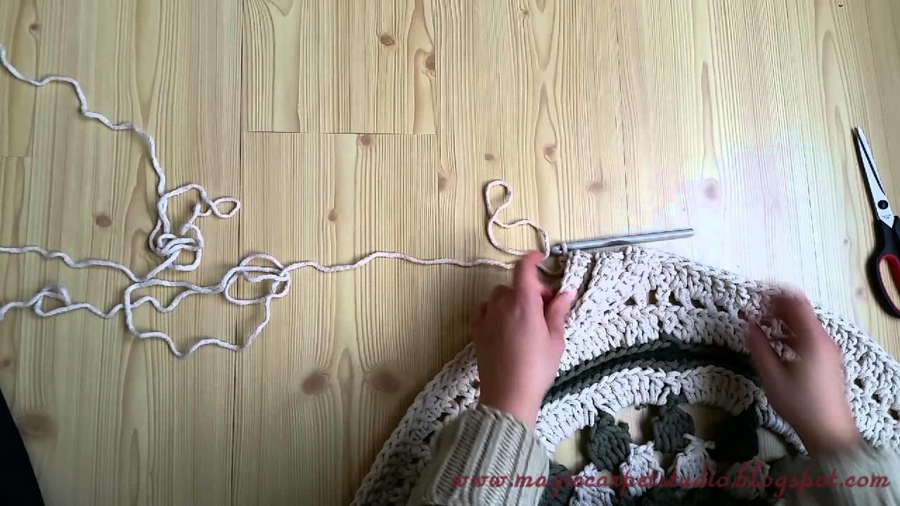 Jak zrobić kolejny dywan-mandalę. How to make another mandala carpet