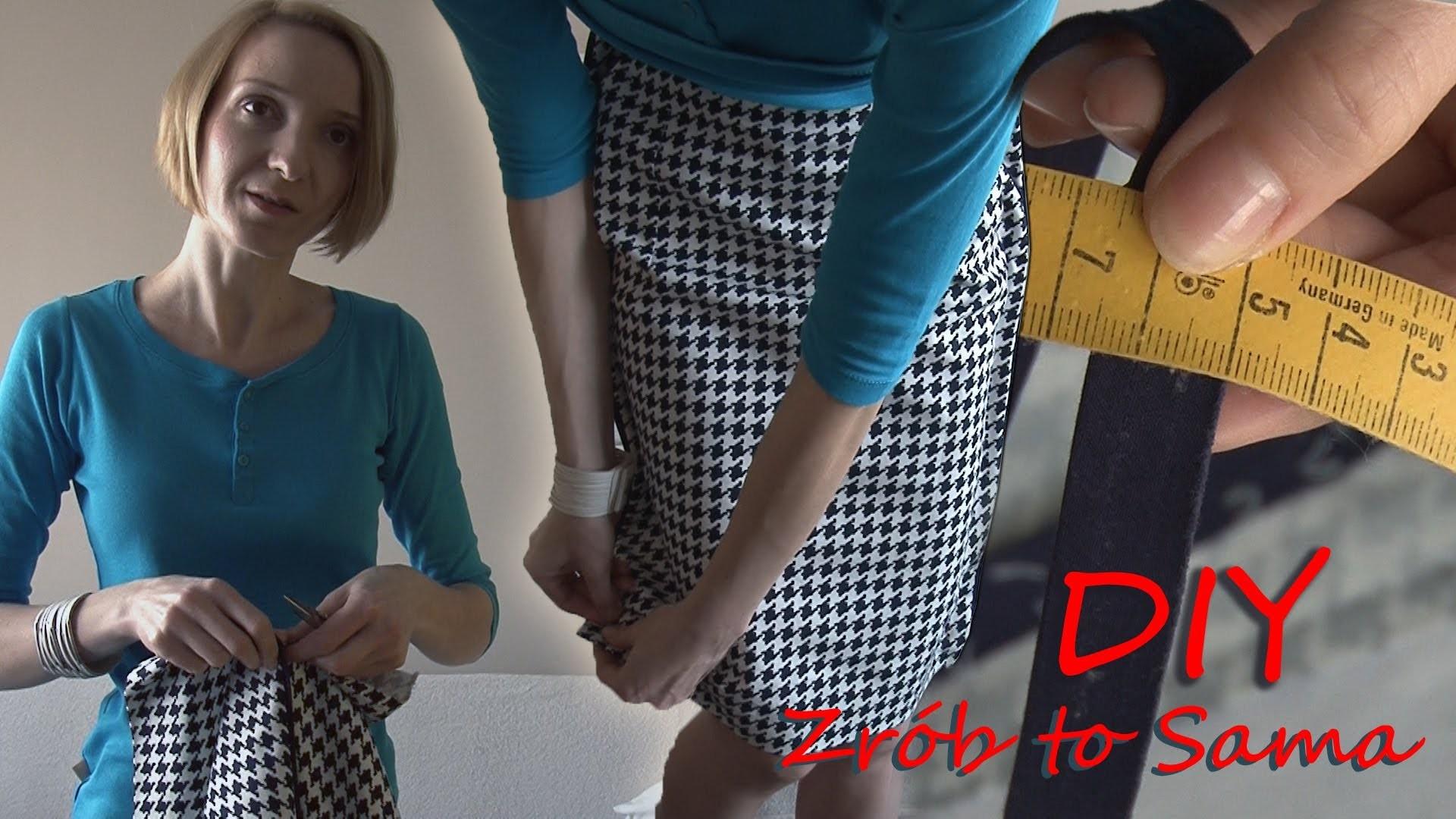 Zrób to sama! Jak zwęzić spódnicę. DIY!How to take in a skirt.