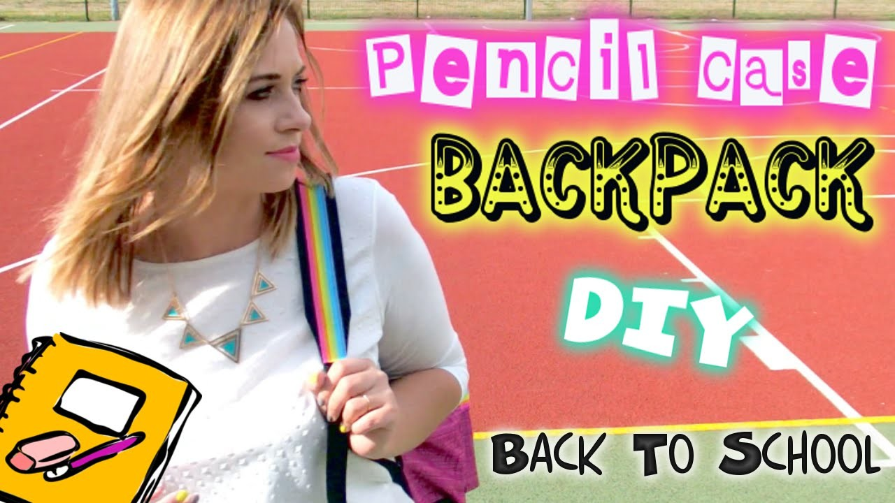 DIY Back To school PLECAK I PIÓRNIK Backpack pencilcase ❤ TheAmmisu. Beatinix
