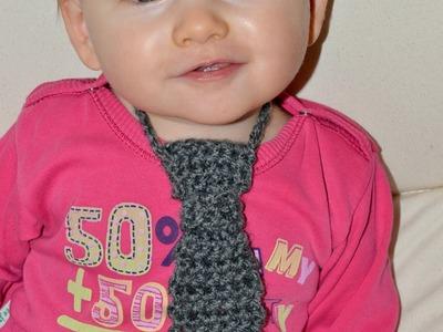 Krawat na szydełku dwa wykonania - bardzo prosty :). easy crochet tie