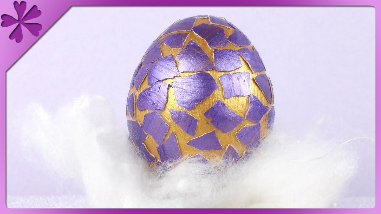 DIY Pisanka ze skorupek. Eggshell Easter Egg (+ENG Annotations) - Na szybko #78