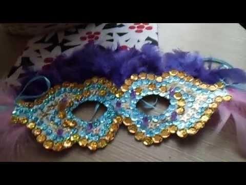 Maska na imprezkę DIY