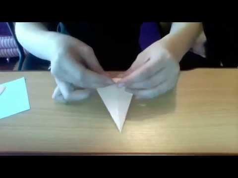 Origami -  ludzik kropelka Zrobiła to Elka m
