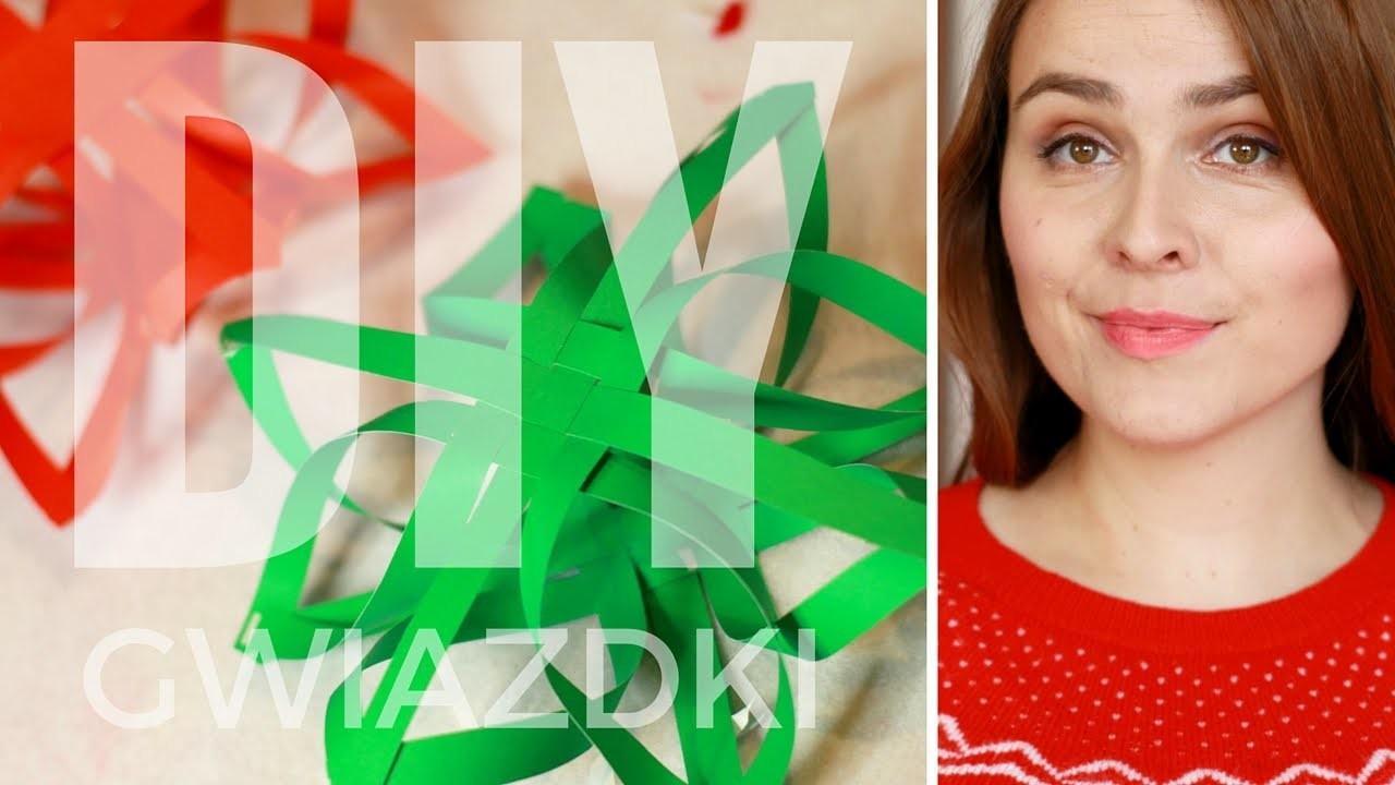 Vlogmas #22 DIY Świąteczne plecione gwiazdki 3D na choinkę