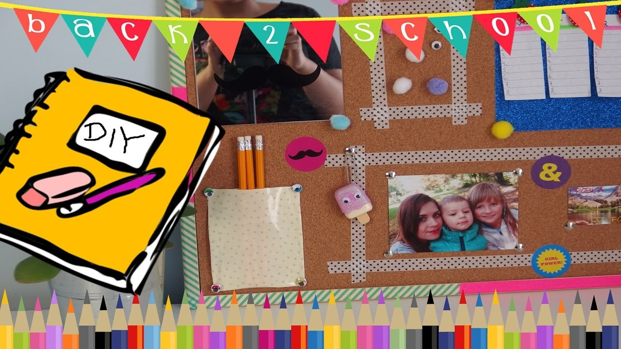 BACK TO SCHOOL - ORGANIZACJA tablica DIY ❤ TheAmmisu