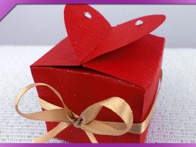 DIY Pudełeczko z sercem. Box with heart (+ENG Annotations) - Na szybko #62