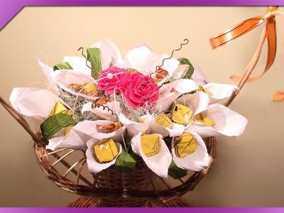 DIY Ślubny bukiet z cukierków. Wedding candy bouquet (+ENG Annotations) - Na szybko #13