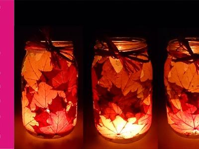 Jesienny świecznik z liśćmi [Autumn candlestick]