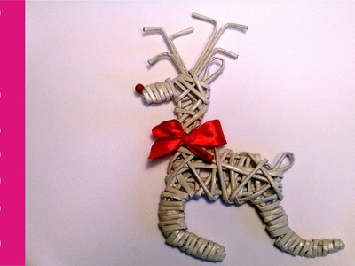 Renifer z papierowej wikliny (reindeer, wicker paper)