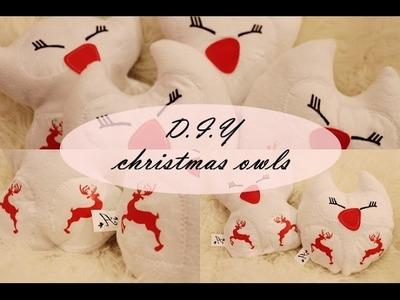 ❄ Christmas D.I.Y #1  ❄ owl Pillow! anna-koper.blogspot.com