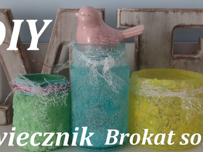 DIY świecznik Brokat SOLNY